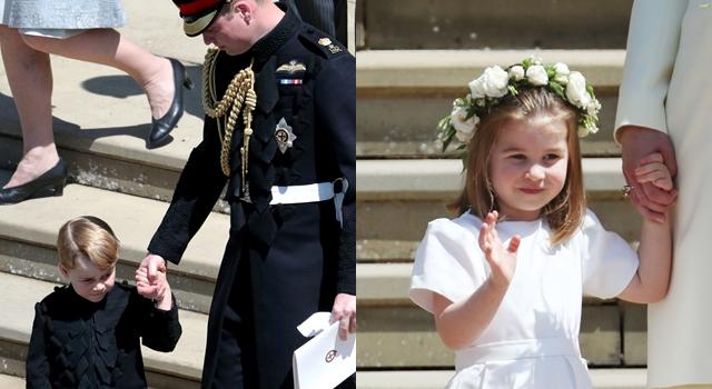 英皇室婚禮最萌!喬治小王子帥氣軍裝、夏綠蒂小公主與新娘同穿Givenchy禮服亮相!