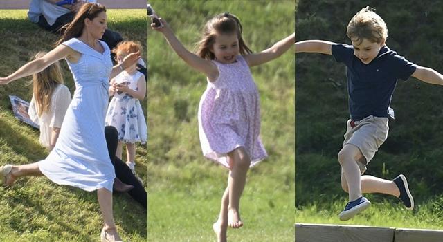 凱特王妃穿「平價洋裝」滾草地!與喬治小王子、夏綠蒂小公主開心賣萌!