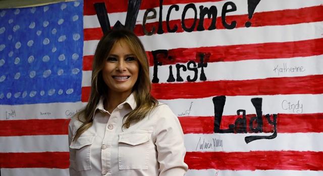 美第一夫人梅蘭妮亞探訪移民兒童!穿ZARA「標語外套」挨轟偽善!