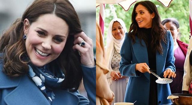 梅根首挑大梁辦皇室活動!穿「皇家藍」展現高衣Q偷師凱特王妃?