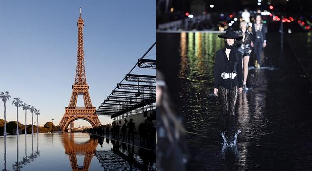 巴黎時裝週》Saint Laurent 把伸展台變成湖!小S、李聖經美腿較勁!