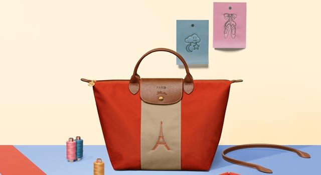 把鳳梨放在包包上!Longchamp訂製折疊包全新圖案超可愛!