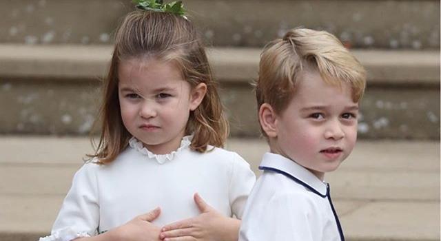 喬治、夏綠蒂四度擔任小花童!新造型走「繽紛熱帶風」萌翻全場!