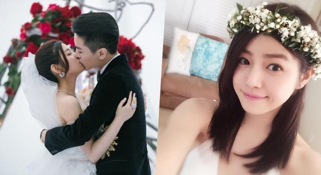 陳妍希結婚兩年重拍婚紗照!「大露美背」依偎陳曉宛如新婚夫妻!