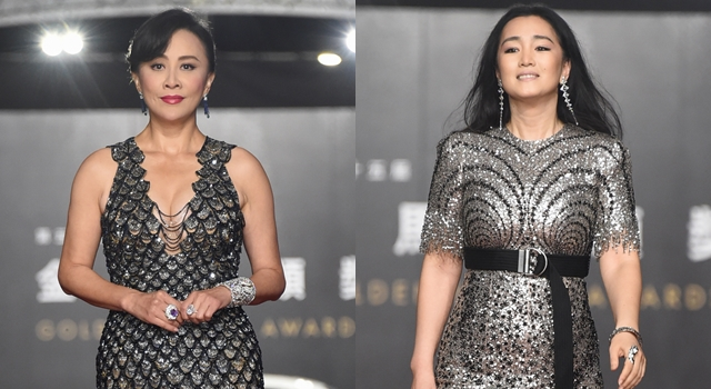 美魔女的較勁!52歲鞏俐、劉嘉玲「魚鱗裝」霸氣登金馬紅毯!