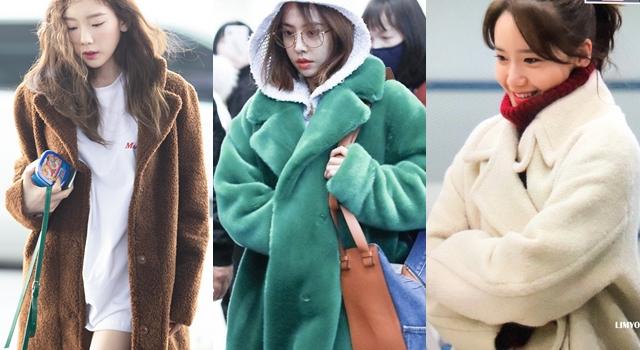 女明星全部都在穿「泰迪熊大衣」!林依晨、太妍撞型也不怕!