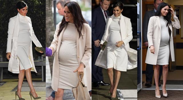 梅根連續穿「相似款」白色大衣再爆奢侈?網:看不出差別在哪!