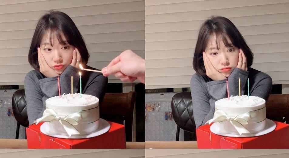 朴信惠慶生秀「賣萌4連拍」!「一個動作」讓小丸子圓臉變 V 臉