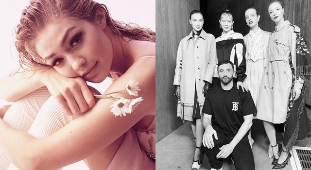 倫敦時裝週》Gigi Hadid首登BURBERRY伸展台,「前額有戲」超搶鏡!