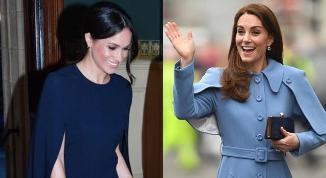 又見英皇家媳時尚之爭!凱特王妃罕見「斗篷裝」被爆跟梅根學的?