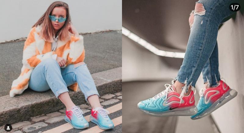 歐美潮人「機能感運動鞋」混搭時裝!超厚氣墊還能修飾身材...