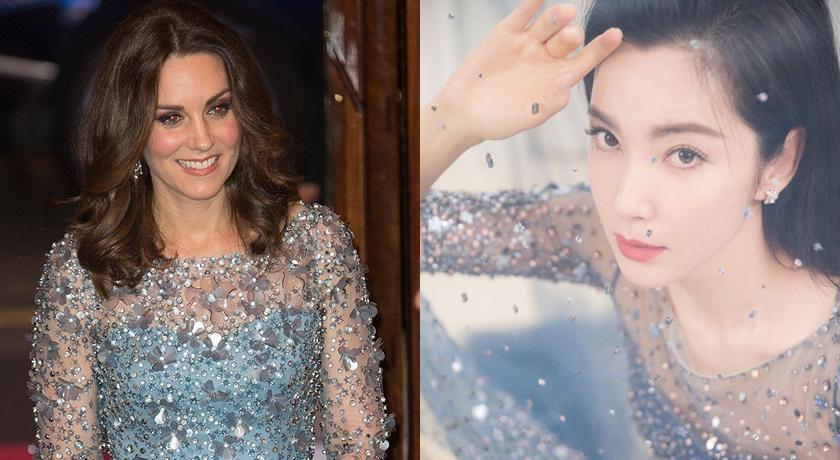 李冰冰偷穿凱特王妃的禮服?粉晶藍「撞型」爆東西時尚之爭...
