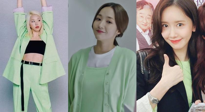 超容易踩雷「螢光綠」韓國爆紅!朴敏英、潤娥大膽穿上身