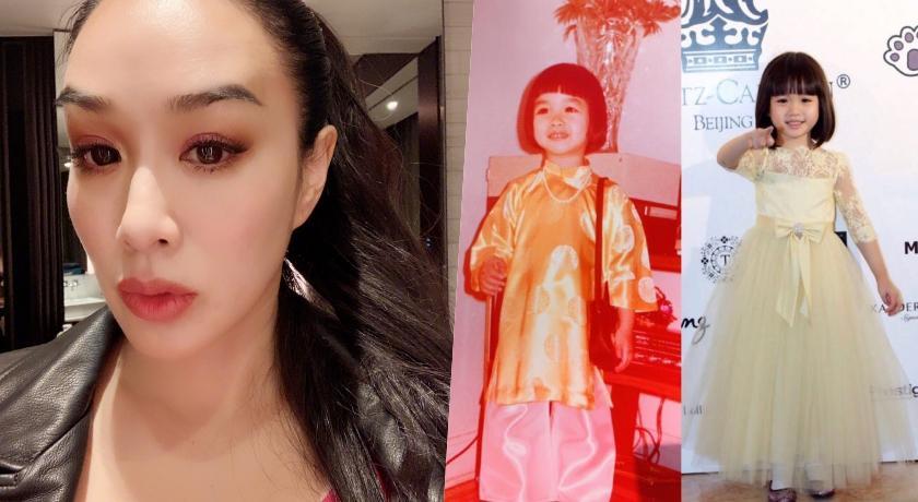 48歲鍾麗緹曝光童年嫩照!跟女兒一對比簡直複製貼上
