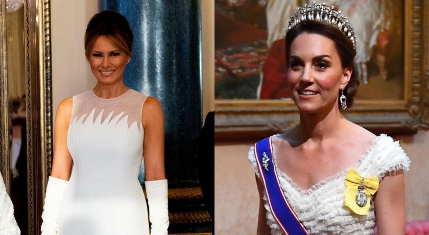 美國第一夫人訪英與凱特王妃時尚較勁!連換三華服「踩場」?