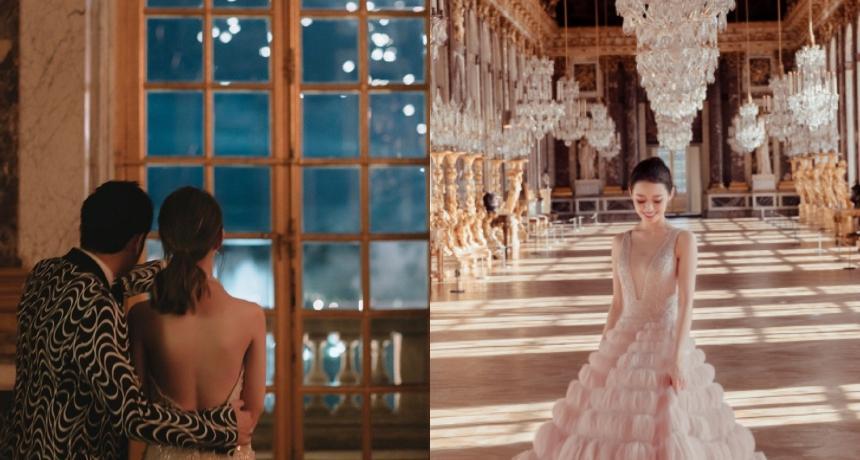 台灣設計師決戰凡爾賽宮!昆凌30萬禮服加碼美背狂勝郎朗24歲嫩妻