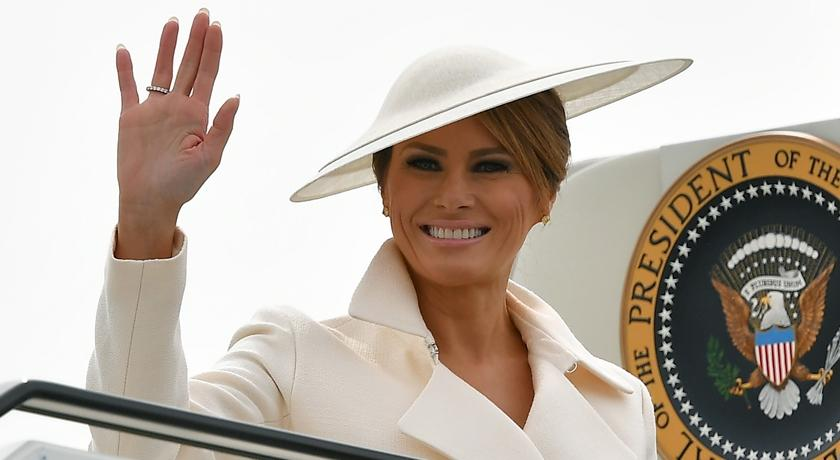 美國第一夫人訪英鬧笑話?戴「這帽子」竟被外媒說像飛碟!