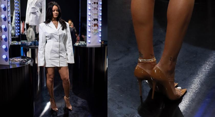 蕾哈娜這身造型不單純!眼尖粉絲:快看她腳踝上有東西...