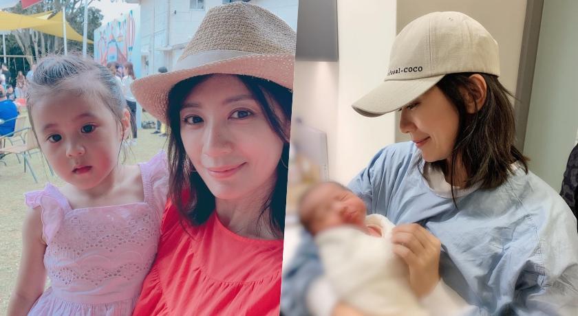 賈靜雯抱小孩咘咘狂問:弟弟呢?44歲「無P素顏」曝光被讚爆!