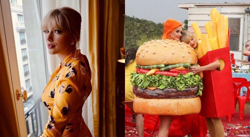 世紀大和解!泰勒絲與凱蒂佩芮相約吃「快樂兒童餐」