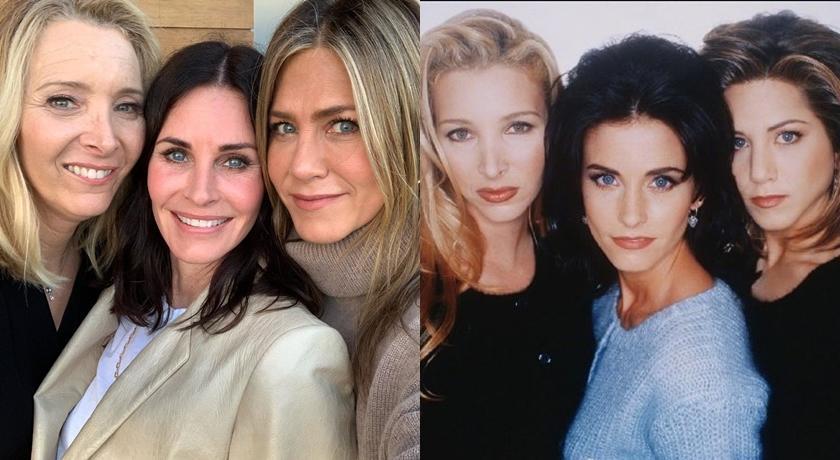 《六人行》三姝合體「滿滿的友誼」!25年前這樣穿現在依舊超時尚
