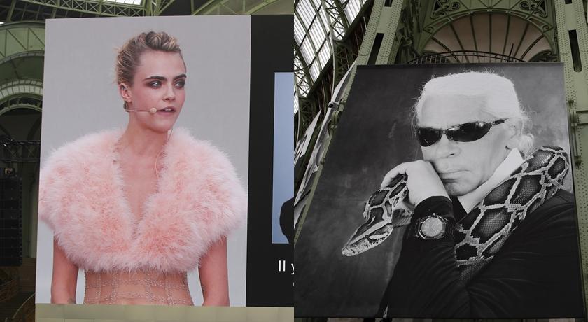 老佛爺卡爾拉格斐追思會巴黎舉行!「她」穿一身粉紅色出席...