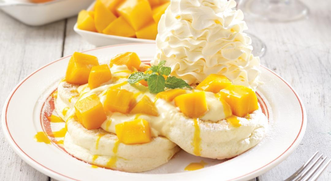 爆紅的火山鮮奶油鬆餅出新招!推出台灣限定「芒果舒芙蕾」!