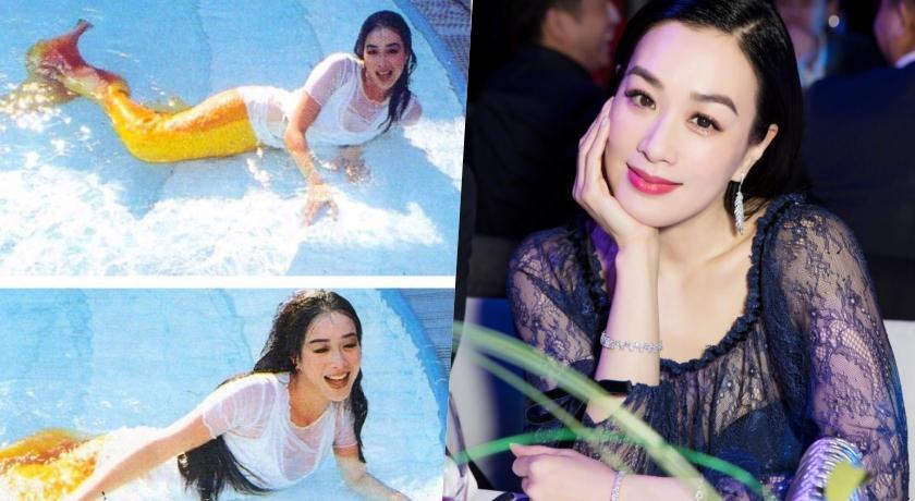 鍾麗緹重現25年前美人魚經典!「超緊身泳衣」火辣身材全現形