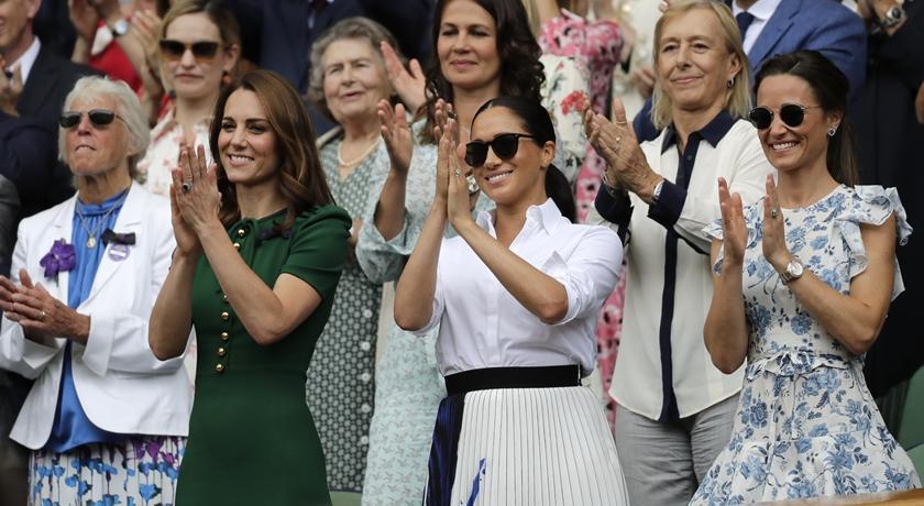 妯娌齊現身溫網決賽!凱特王妃端出穿三年前「舊衣」秒勝梅根