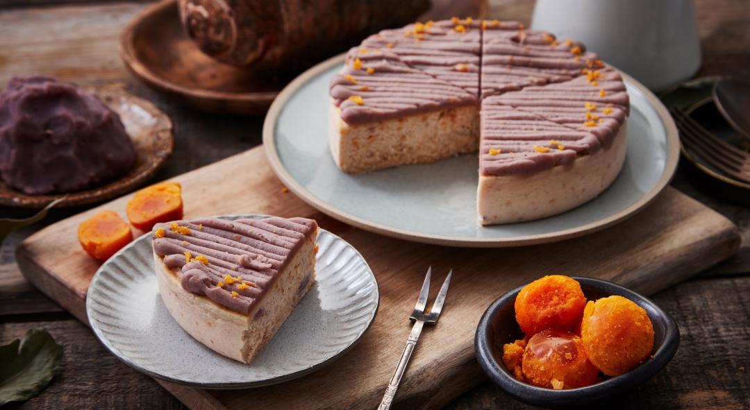 這個乳酪蛋糕加了芋頭和鹹蛋黃?不但「無澱粉」還是金馬指定甜點!
