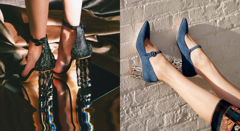 手上沒鑽戒沒關係!Ferragamo全新鑽石鞋跟系列超級閃!
