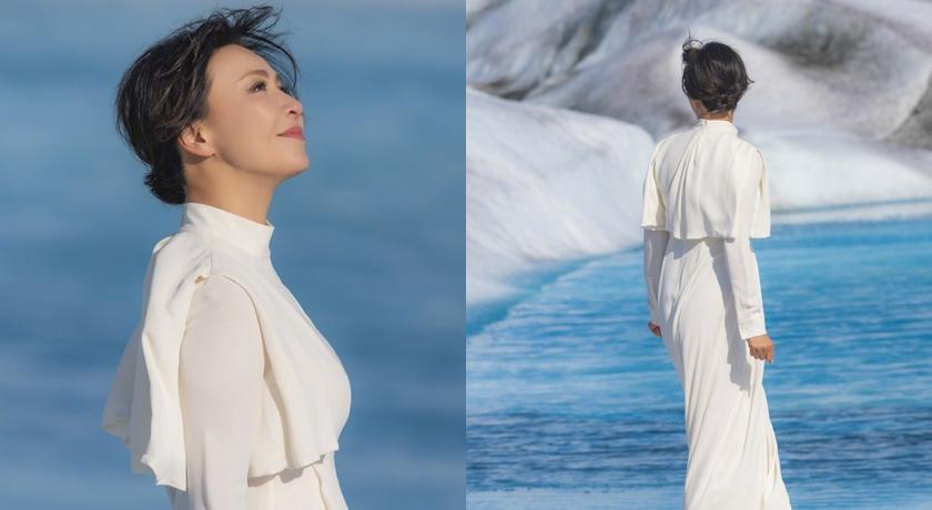 劉嘉玲漫步冰河化身精靈女王!霸氣宣告:時光不是我的對手