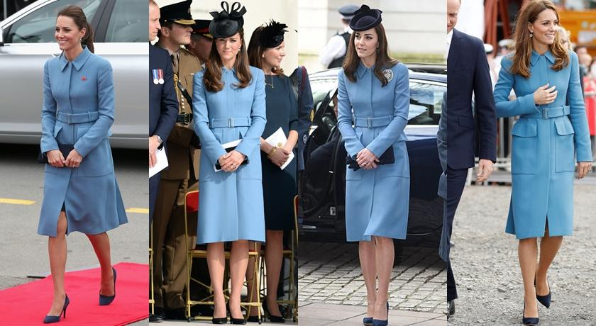 凱特王妃被發現舊衣穿 4 次!這件過季「王妃款外套」意外翻紅