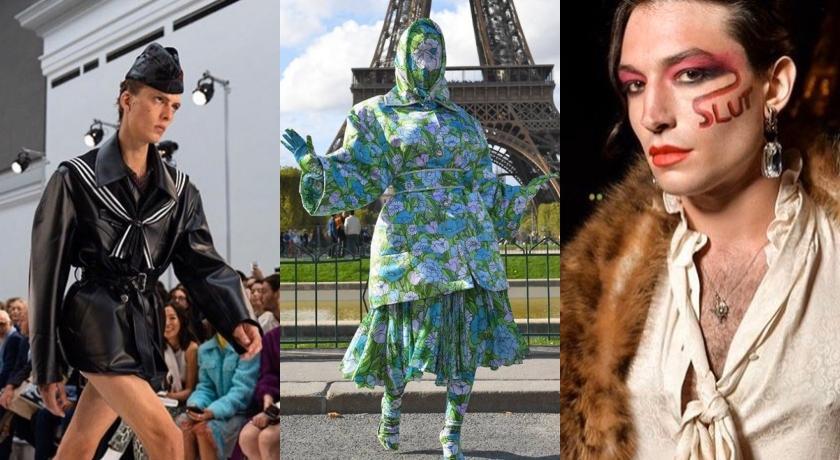 時裝週狂人搏版面!模特兒「氣噗噗」走秀、饒舌歌手穿這樣「連媽媽都認不出」