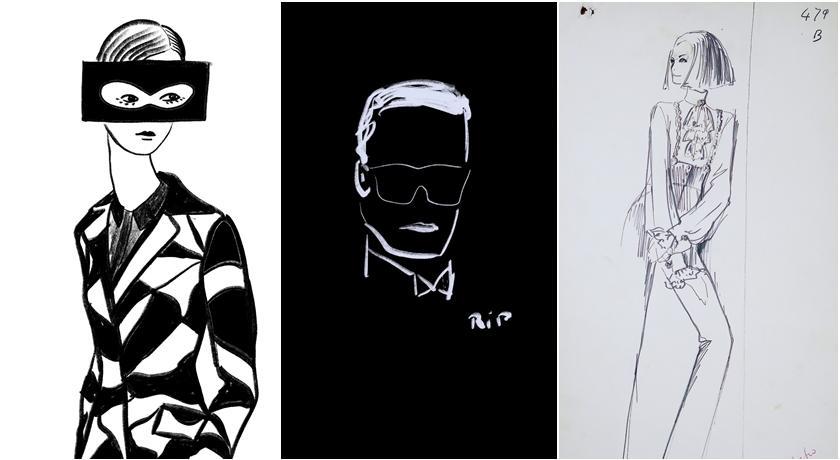 ART@ TAIPEI>>時尚老佛爺Karl Lagerfeld手稿原作在台首次曝光!