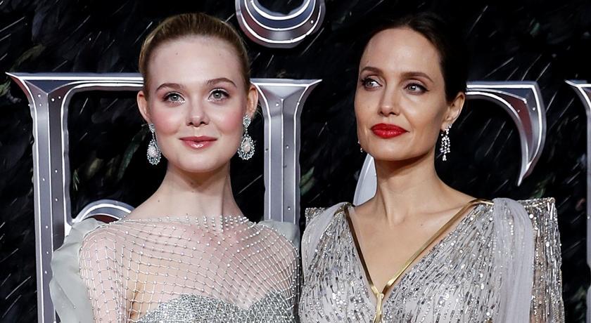 《黑魔女2》裘莉端出「傲人雄偉深 V」登紅毯完勝小 20 歲女星
