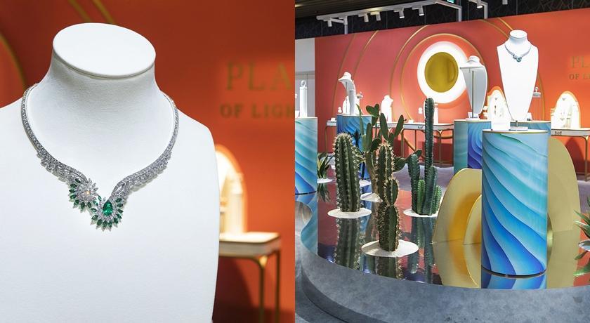 將近七千萬的項鍊太驚人!伯爵珠寶展在台北 101 打造城市綠洲