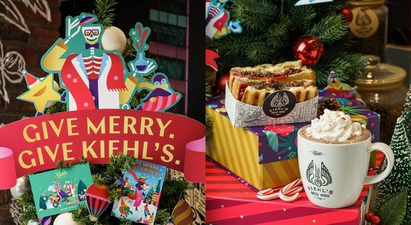 烤雞莓果三明治、拐杖糖熱可可...全球第一家 Kiehl's 咖啡店推出2019耶誕限定餐點!