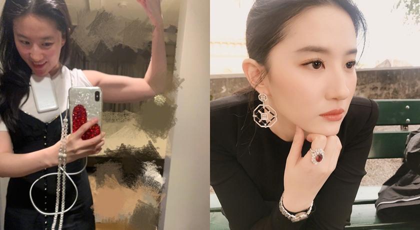 仙女姊姊劉亦菲運動私照外流!對鏡子自拍「川字腹肌」藏不住