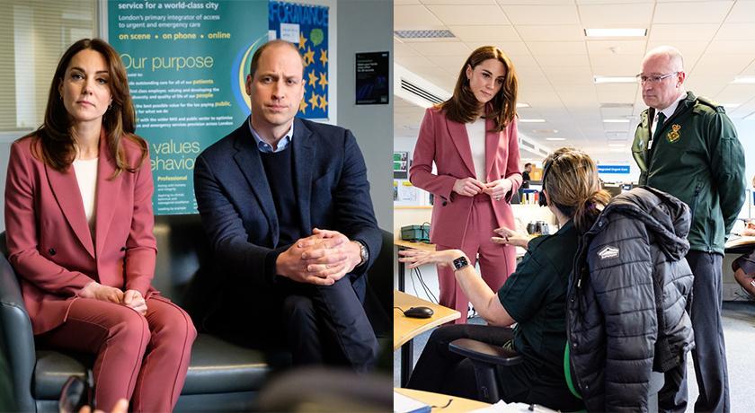 英國疫情告急!凱特王妃穿「玫瑰色西裝」慰問武肺醫護