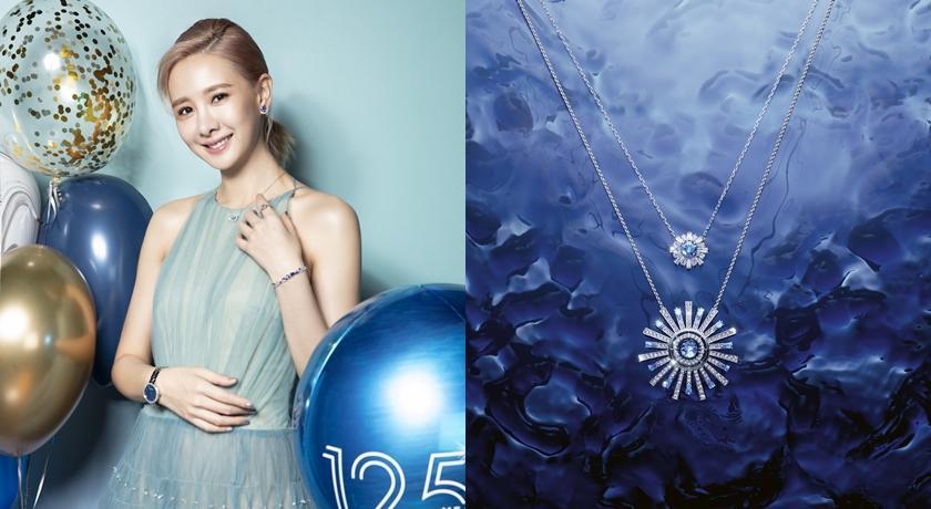安心亞「藍色洋裝」飄仙氣!仔細看連項鍊、耳環全都是藍色的