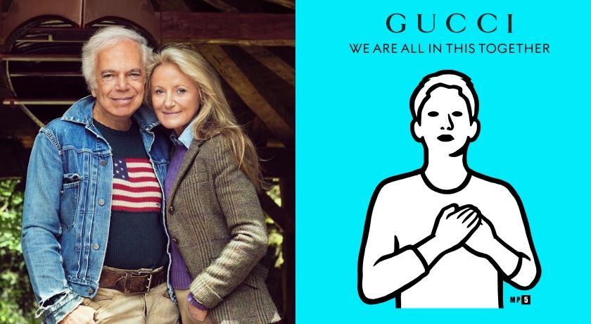 武漢肺炎》時裝巨人Ralph Lauren加入抗疫陣線!Gucci發起募款:我們一起面對