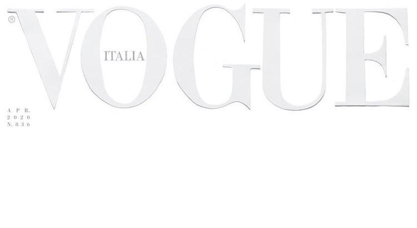 義大利《Vogue》史無前例 月封面竟然「一片空白」!