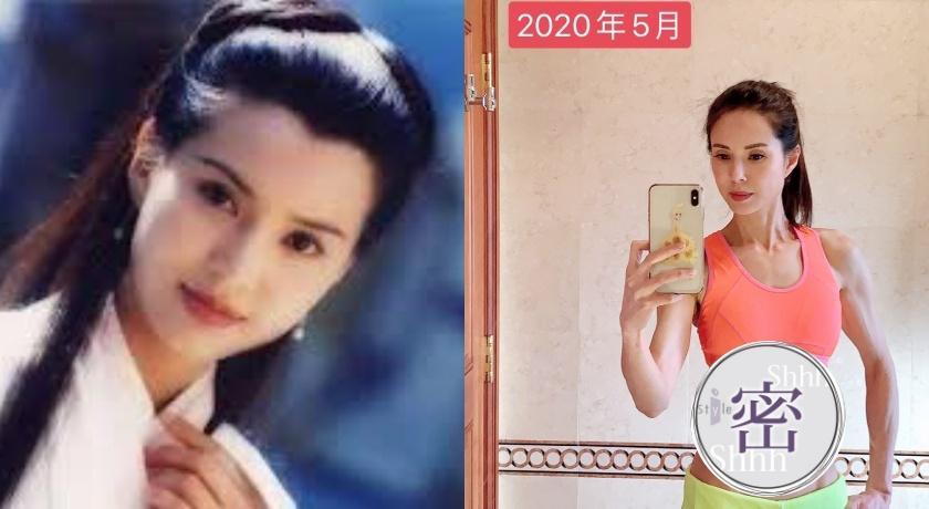 52歲「最美小龍女」李若彤曬超狂馬甲線!網驚呼:比20年前還美!