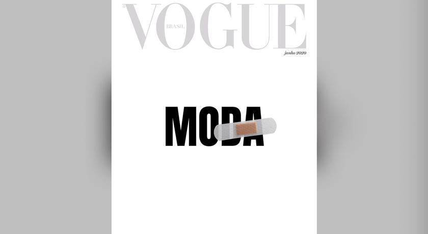 武漢肺炎》巴西版《VOGUE》以「白底OK蹦」為封面!背後還有這個寓意
