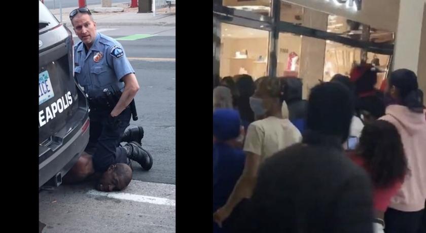 白人警壓死非裔男引衝突!暴民洗劫 LV、GUCCI 名牌包拿了就走