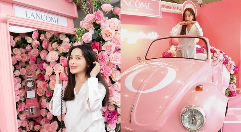 (有片)粉紅控請尖叫!蘭蔻「幸福公路」敞篷車、電話亭讓少女心大爆發