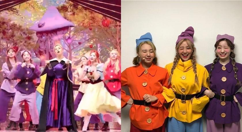 (有片)TWICE 巧扮白雪公主與七矮人熱舞成最萌反差!子瑜改邪歸正成「糊塗蛋」?