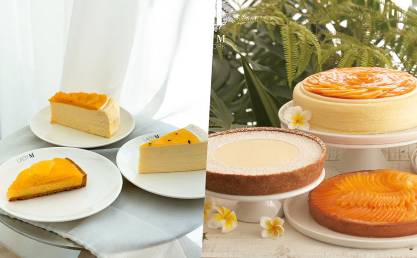 Lady M夏季限定「芒果千層、百香果蛋糕」開吃!絕美水果氣泡飲超消暑