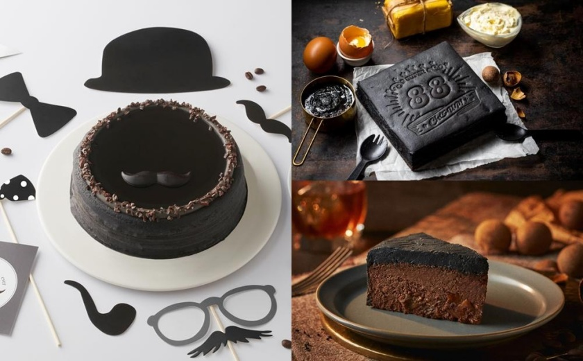 竹炭千層、威士忌苦甜新滋味!盤點4款「父親節蛋糕」暗黑色超搶眼